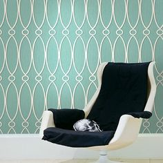 by Seabrook Designs featured in Geometric from Seabrook, Contemporary Home Offices Room Set Photos Graphic Wallpaper, Geometric Wallpaper, Trellis Wallpaper, Pattern Wallpaper, Contemporary Home Offices, Wallpapering Tips, Inside Cabinets, A 17, Room Set