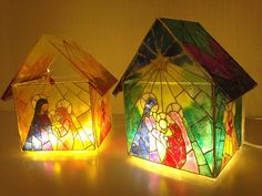 Ideas que mejoran tu vida Catholic Beliefs, Cd Crafts, Birth Of Jesus, Nativity, Stained Glass, Holiday, Christmas, Mandala, Projects To Try