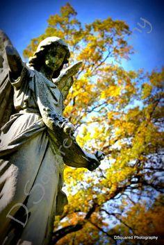 Angel Elmwood Cemetery Detroit Michigan by DennyDicks on Etsy