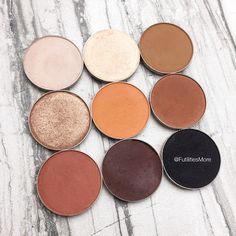 Kylie Cosmetics Bronze palette dupes with Makeup Geek Eyeshadows