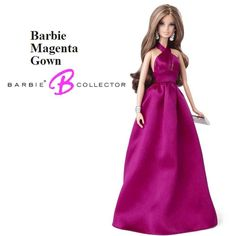 Barbie Colección Red Carpet Vestido Magenta Mattel