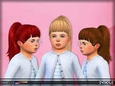 Works with hats    This hair is only available from toddlers .    It´s Base Game Compatible.    12 Colors by EA.    Maxis Match Hair.  ...