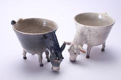 Ceramic Plates, Ceramic Pottery, Pottery Art, Ceramic Art, Ceramic Animals, Clay Animals, Clay Bowl, Pottery Techniques, Marble Art