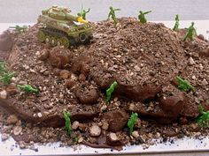 Colorful Cravings: Army Cake, Army Men, Dirt
