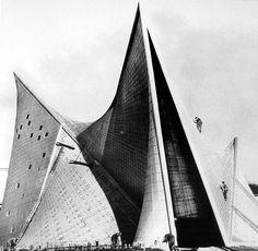 Le Corbusier, Philips Pavilion, Brussels, 1958