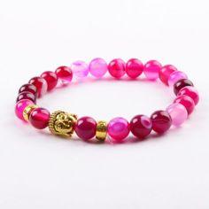 Pink Agate, Beaded Bracelets, Jewelry, Dress, Jewlery, Jewerly, Pearl Bracelets, Schmuck, Jewels