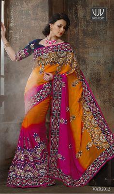 wedding saree by VJV Fashions. #weddingsaree #bridalsaree #bridalwear #bridalcollection #wedding #marriage #bride #brides #bridetobe #bridal