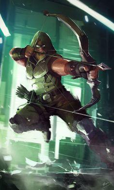 Green Arrow - Lap Pun Cheung - Visit to grab an amazing super hero shirt now on sale! Comic Book Characters, Comic Book Heroes, Comic Character, Comic Books Art, Comic Art, Green Arrow, Dc Comics Superheroes, Marvel Dc Comics, Thor Marvel