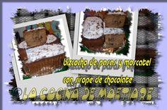 La cocina de Maetiare: Bizcocho con pasas y moscatel al sirope de chocolate