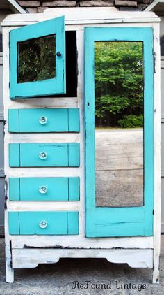 Hey, I found this really awesome Etsy listing at http://www.etsy.com/listing/158188631/blue-and-white-antique-chifferobe