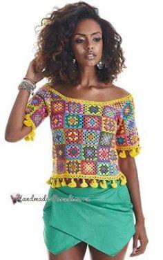 Transcendent Crochet a Solid Granny Square Ideas. Inconceivable Crochet a Solid Granny Square Ideas. Crochet Bodycon Dresses, Black Crochet Dress, Crochet Jacket, Crochet Blouse, Crochet Bikini, Crochet Granny, Crochet Baby, Knit Crochet, Love Crochet