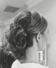Long hair low updo