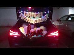 Birthday Surprise in car by welanti events - YouTube Birthday Surprise For Girlfriend, Birthday Surprises For Her, Birthday Gifts For Boyfriend Diy, Surprises For Husband, Gifts For Hubby, Husband Birthday, Surprise Birthday, Simple Birthday Decorations, Boyfriend Suprises