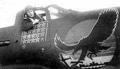 SOVIET AVIATION in the years 1941-1945 WW2. Soviet test pilot Vyacheslav Sirotin Airacobra planes in the cab