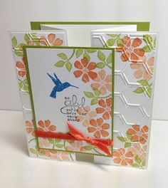 Stamp With Sandy: Bloomin' Marvelous Z-fold Card
