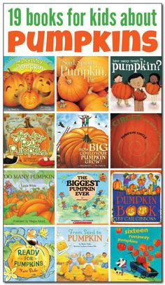 19 books about pumpkins for kids - Best Children Books Booklists - Halloween Autumn Activities For Kids, Halloween Activities, Best Children Books, Childrens Books, Teen Books, Preschool Books, Preschool Ideas, Teaching Ideas, Preschool Activities