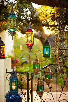Let Pier 1's Global Hanging Lanterns help light your path to enlightenment. The colorful glass designs and metal detailing give candlelight an exotic aura. Ideal for use indoors or out.