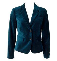 velvet blazer in teal - wish it still fit