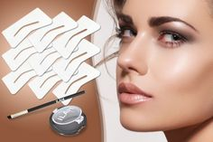 instead of (from Ilah) for a brow travel kit, plus six stencils and a brush - save Russian Eyelash Extensions, Individual Eyelash Extensions, Lvl Lashes, Hd Brows, Henna Brows, Brow Kit, Eyebrow Tinting, Perfect Brows