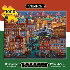 Jigsaw Puzzle - Venice 1000 Pc By Dowdle Folk Art