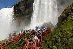 Niagara Falls, Cave of the Winds. You HAVE to climb up under the falls.......it's incredible!