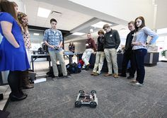 Tulsa Tech students compete in the district-wide 2013 robotics competition.