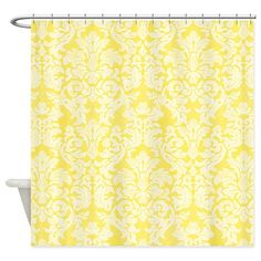 lace pattern - white yellow Shower Curtain on CafePress.com
