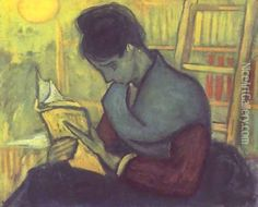 A woman reading Oil Painting - Vincent Van Gogh