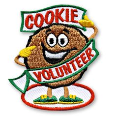2 x 2 1/4 Inches **IRON-ON backing for easy & Snappy application** Our cute Cookie Volunteer fun patch is the perfect way to show your appreciation for the children in your youth group or troop who volunteered for your cookie themed activity. http://www.snappylogos.com/Cookie-Volunteer-Fun-Patch/productinfo/2863/