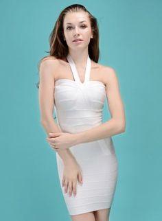 Starry Bow Bandage Dress White,  Dress, sexy bandage dress party, Chic