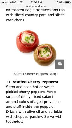 Cherry Pepper Recipes, Country Pate, Birthday Appetizers, Pickled Cherries, Sweet Pickles, Seeds, Stuffed Peppers, Fruit, Vegetables