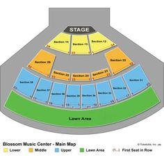 Blossom Music Center Seating | Blossom Music Center Seating Chart