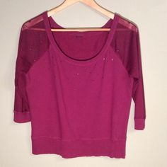 Sheer arms with sequins Closet Rules: No Holds or Trades Same Day or Next Day Shipping All Items are in Gently Used Condition Unless Stated Otherwise Sweaters