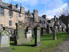 Greyfriars Kirkyard in Edinburgh Scotland ( Home of the dog 'Greyfriars Bobby').Very spooky place. Legends abound!