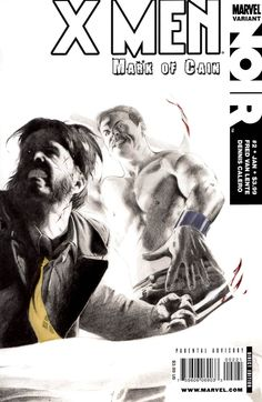 X-men Noir Mark of Cain Variant Edition Marvel Comics for sale online Comic Book Covers, Comic Books, Mark Of Cain, Solitary Confinement, I Want To Know, Wolverine, X Men, Marvel Comics, Nerd