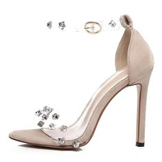 Rita's Transparent Rhinestone Heels