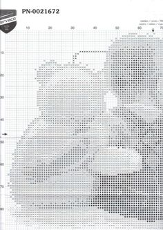 Cross-stitch Baby Announcement, part 2.. color chart on part 4