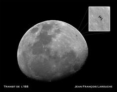 La station spatiale internationale en transit devant la Lune
