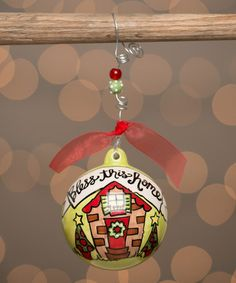 Loving this 'Bless This Home' Ball Ornament on #zulily! #zulilyfinds