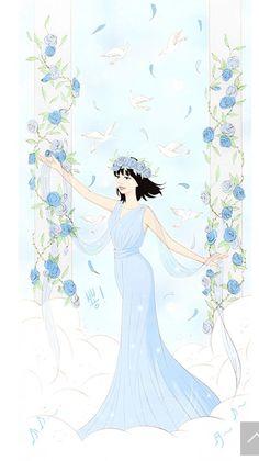 Baby Blue (spirit fingers) Manga Love, Anime Love, Spirit Fingers Webtoon, Girl Hair Drawing, Webtoon Comics, Digital Art Girl, How To Draw Hair, Cartoon Wallpaper, Anime Comics