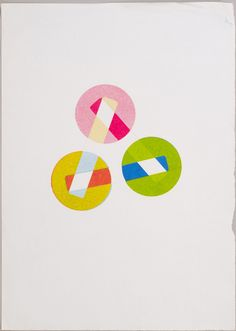 Karel Martens. Untitled, circa 1994  letterpress monoprint on wax paper  9 ¾ × 13 ¾ in. (249 × 349 mm)