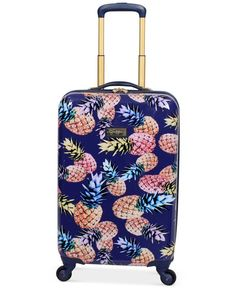 "Jessica Simpson Pineapple Hardside 21"" Spinner Suitcase"