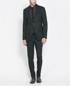 MICRO - STRUCTURED BLACK SUIT - Suits - Man - New collection | ZARA United States