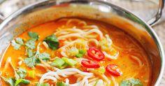 "Share the post ""Pikantna zupa tajska z makaronem / Spicy Thai noodle soup"". Pikantna zupa tajska z makaronem"