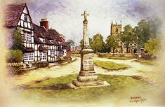 W149 Fladbury Cross by christopher Hughes  ~  x