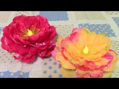 DIY Flower Light Tutorial - YouTube