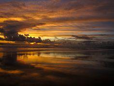 Bali sunset...smoky clouds  Just amazing