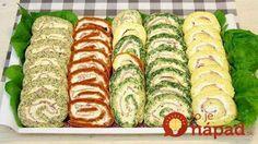 Z jedného cesta pripravíte viacero verzií vynikajúcich farebných rolád. Je to jednoduché a výsledkom je dokonalé jarné predjedlo. Yummy Appetizers, Appetizer Recipes, Bakery Recipes, Cooking Recipes, Macedonian Food, Serbian Recipes, Best Food Ever, Food Decoration, Brunch