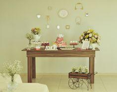 Chá de cozinha. Delicadeza. salmon, cores pasteis. rosa. quadrinhos. wedding. feminino. festa. evento. casamento. noivado. noiva.noivinha. mesa. table.