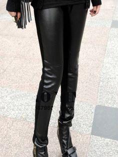 #皮质紧身裤 横条纹修腿型皮质紧身裤 网购优惠 http://e1womenleggings.com/cd--c-19747-cn-LeatherLeggings.html